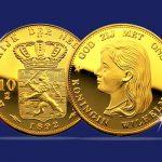 Gouden Wilhelmina 10 Gulden