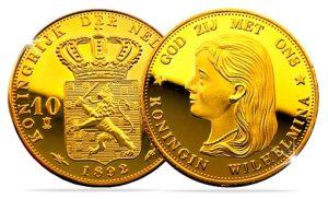Gouden Wilhelmina 10 Gulden 1892